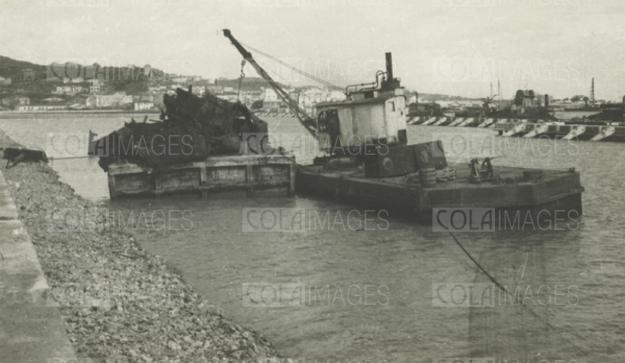 Colaimages - Vintage Stock Photos and Archival Images - Construction of the port of Durres, Albania, 32