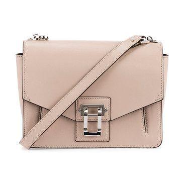 """Hava Leather Shoulder Bag by Proenza Schouler. Proenza Schouler smooth leather shoulder bag. Shiny silvertone hardware. Adjustable shoulder strap, 11"""" drop. Flap to..."""