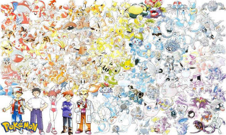 Ken Sugimori art of the original 150