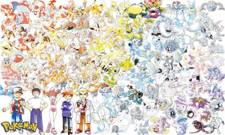 Ken Sugimori art of the original 150