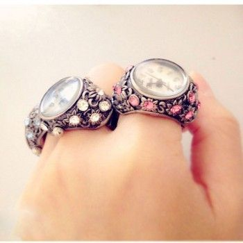 Gorgeous Rhinestone Trim Hollow Ring watches just $17.99 only in ByGoods.com