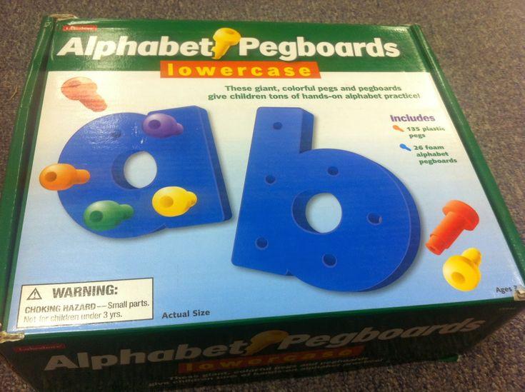 alphabet pegboard