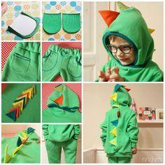 Doppelnaht: dino costume idea abd pictorial for knit pockets