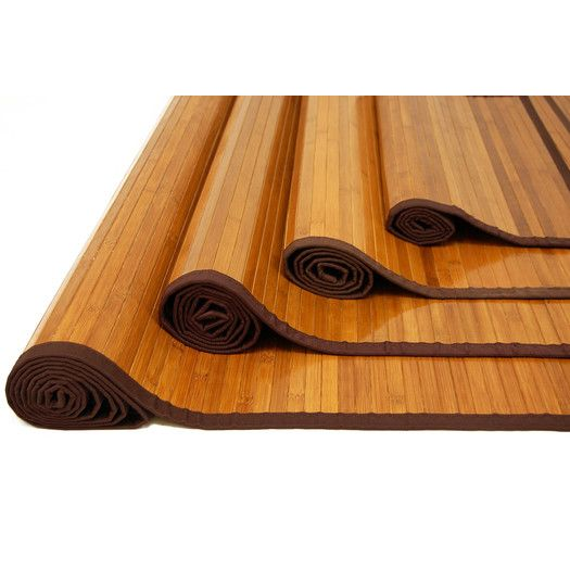 Found it at AllModern - Stained Bamboo Rug for the kitchen