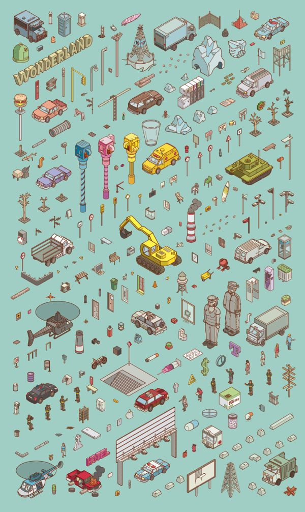 Chaos City by Miquel Tura Rigamonti - isometric