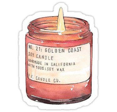 'Candle ' Sticker by floresmarcella | Autumn stickers ...