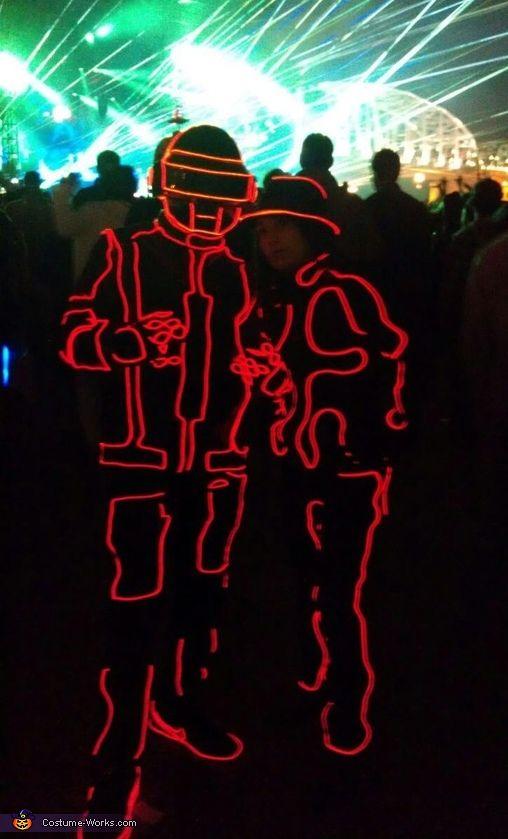 Tron Daft Punk EL Wire Suit!