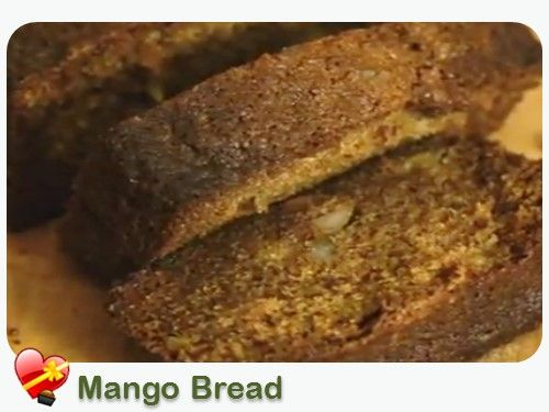 Here's a delicious Mango Bread recipe with macadamia nuts, coconut and other good ingredients. See more local style recipes here.