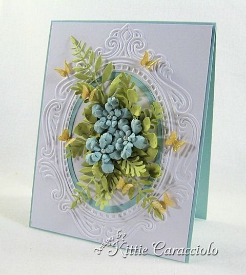 KC Memory Box Fancy Blossoms 2 right: Kraft Cards, Beautiful Cards, Scrapbook Cards, Memories Box, Boxes Fancy, Scrapbook Cardmaking, Fancy Blossoms, Paper Crafts, Elegant Patterns