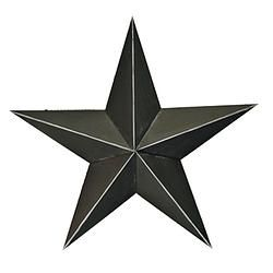 "Black Washed 3D Tin Star 15"" - $16.49"