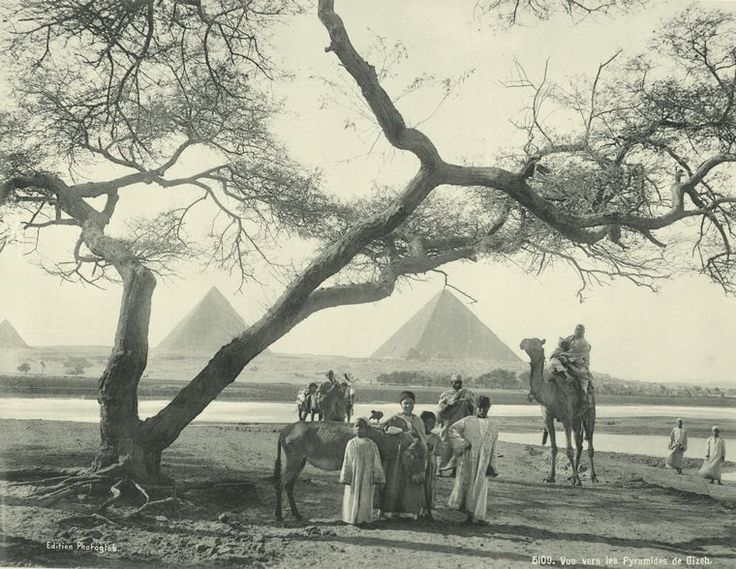View of the Giza Pyramids 1870