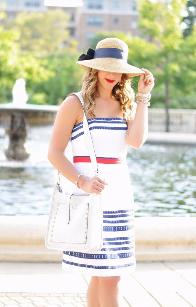 red white blue, red white and blue, patriotic dress, july 4th, vineyard vines dress, bow hat, bow tie hat, white purse, rebecca minkoff purse, patriotic outfit ideas, patriotic fashion, july 4th outfit ideas, summer fashion, summer outfit ideas, summer outfit inspo, nordstrom anniversary sale, nordstrom sale, nordstrom anniversary, best sames of nordstrom anniversary sale