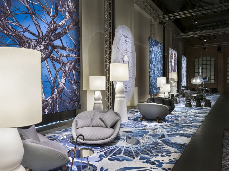Moooi Carpets Signature Collection Broadloom Style Delft Blue By Marcel Wanders