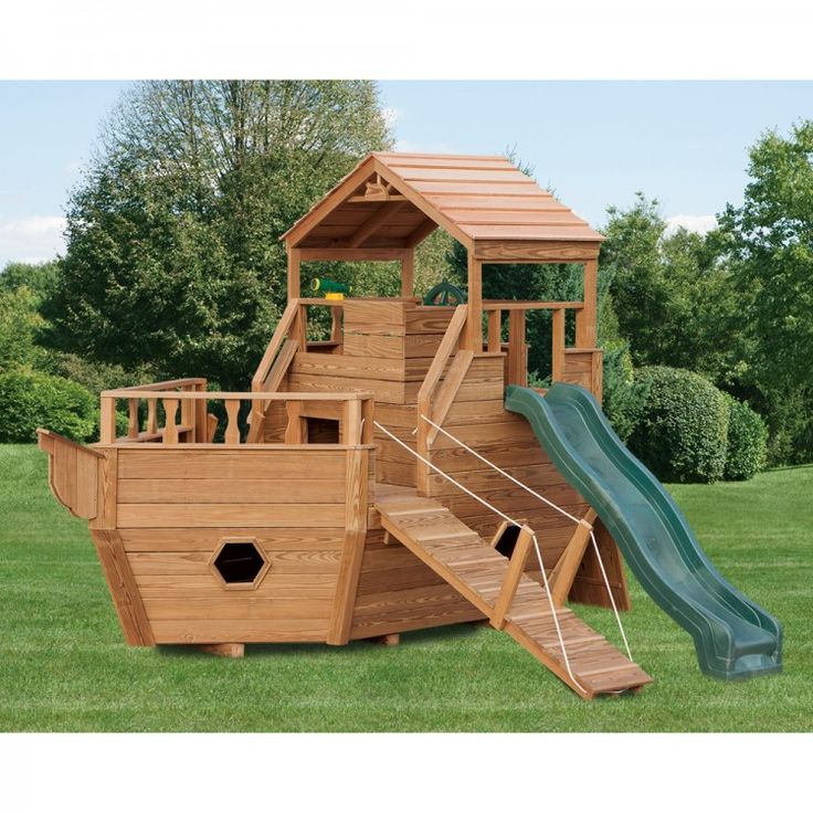 Amish Made Wooden Play Ship Playground Set Outdoor Fun