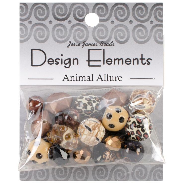 Jesse James Design Elements Beads 28g-Animal Allure - animal allure