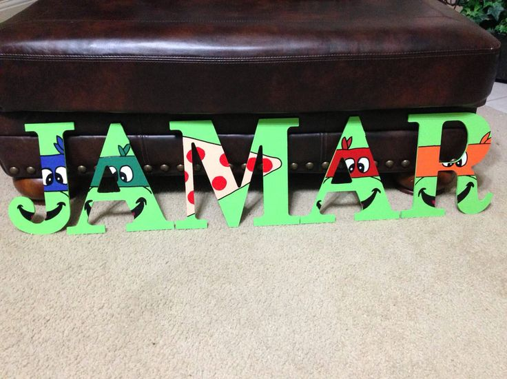 Ninja Turtle Custom Wooden Letters