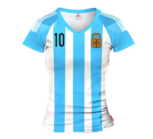 ARGENTINA HOME 2015/16 Football Women's Jersey With Custom Name And Number