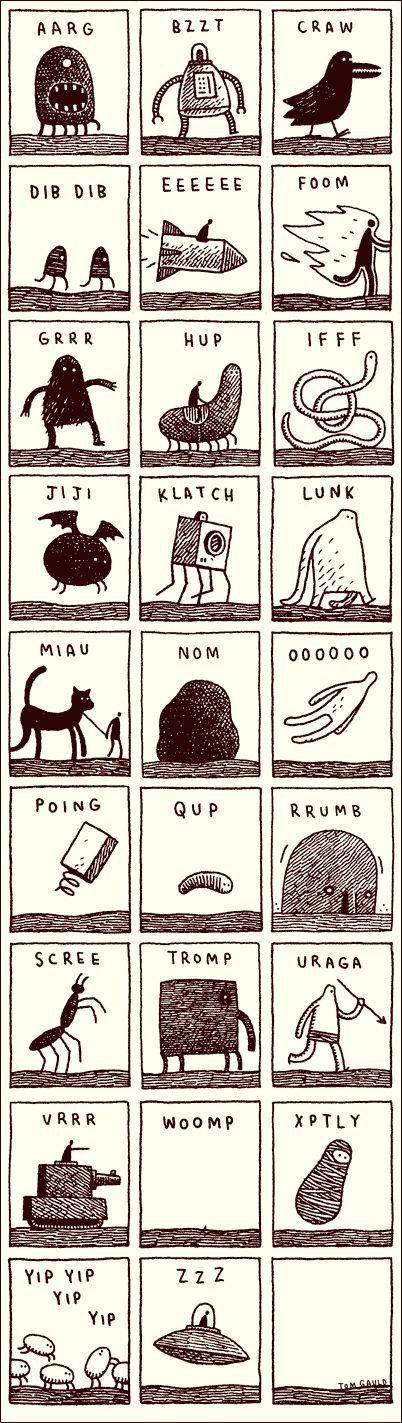 Noisy Alphabet by Tom Gauld