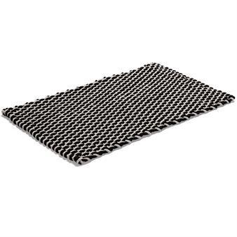 Rope rug black - 50x80 cm - Etol Design