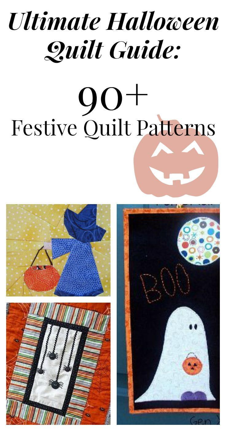 Ultimate Halloween Quilt Guide: 90+ Festive Quilt Patterns - From table runners to treat bags, from Halloween quilt patterns to individual blocks, you won't run out of fun-filled projects to do for this Halloween. If you're in need of some last-minute ideas, there's no better place to go to. Many of these projects should only take a few days before being ready to add some Halloween fun to your home.
