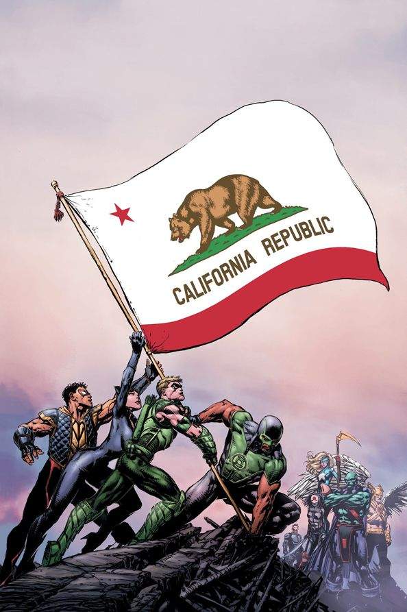 "#Justice #League #Of #America #Fan #Art. (Justice League of America: World's Most Dangerous, Chapter One. ""California Republic"" Vol.3 #1 Cover) By: David Finch. ÅWESOMENESS!!!™ ÅÅÅ+"