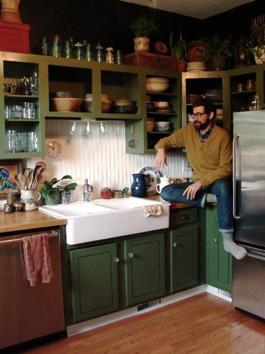 Michele & Ryan Tansey's Antiquarian Hideaway House Tour | Apartment Therapy. love this kitchen!!