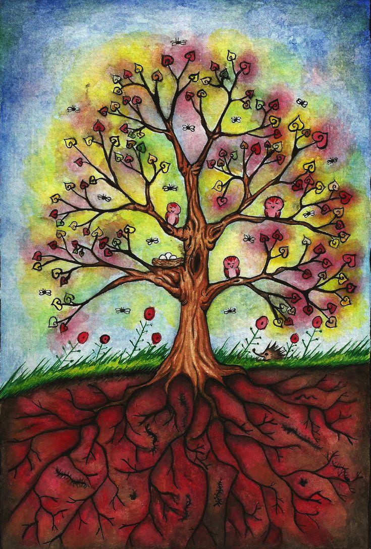 Открытка, дерево жизни картинки по изо
