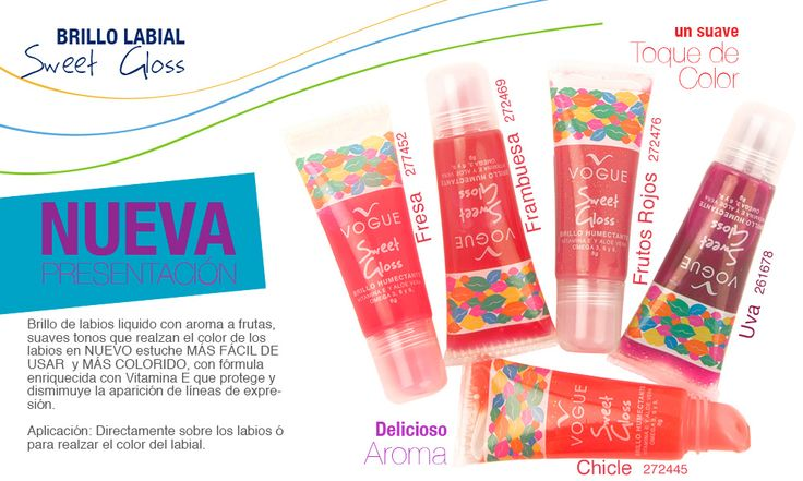 Cosméticos Vogue | BRILLO LABIAL Sweet Gloss - Cosméticos Vogue