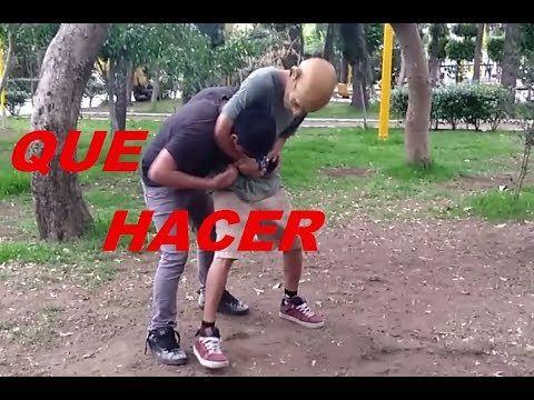Como Acabar a tu oponente en una pelea callejera si te sujeta del cuello - YouTube