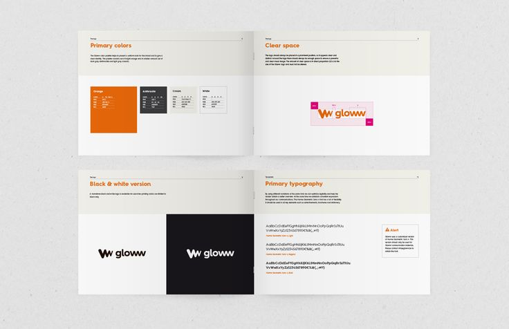 Gloww - Huisstijlgids   by Skinn Branding Agency