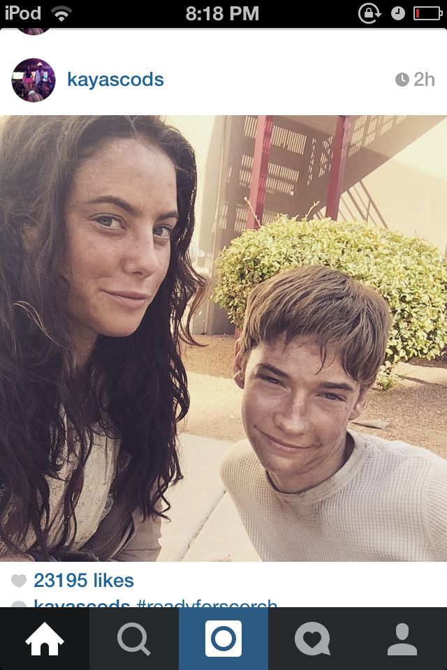On set of #thescorchtrials Teresa and Aris