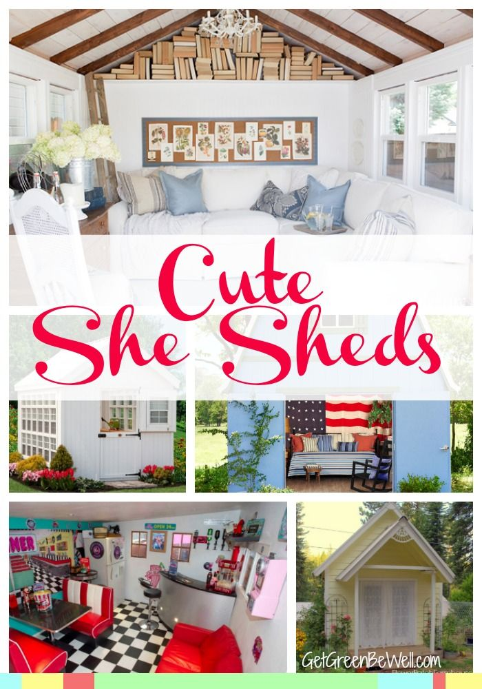 She Sheds are so cute! A backyard getaway for women, they are often storage sheds converted to adorable rooms similar to man caves outside. Here are 10 of the best she sheds for your peaceful getaway!