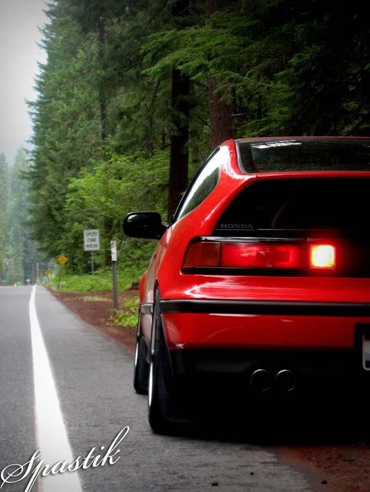 Honda CRX With (EDM) Rear Fog Light Panel