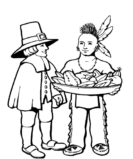 Thanksgiving Coloring Pages Preeschool