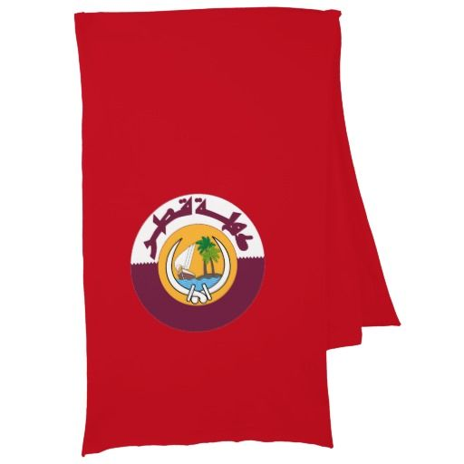 Qatar coat of arms scarf