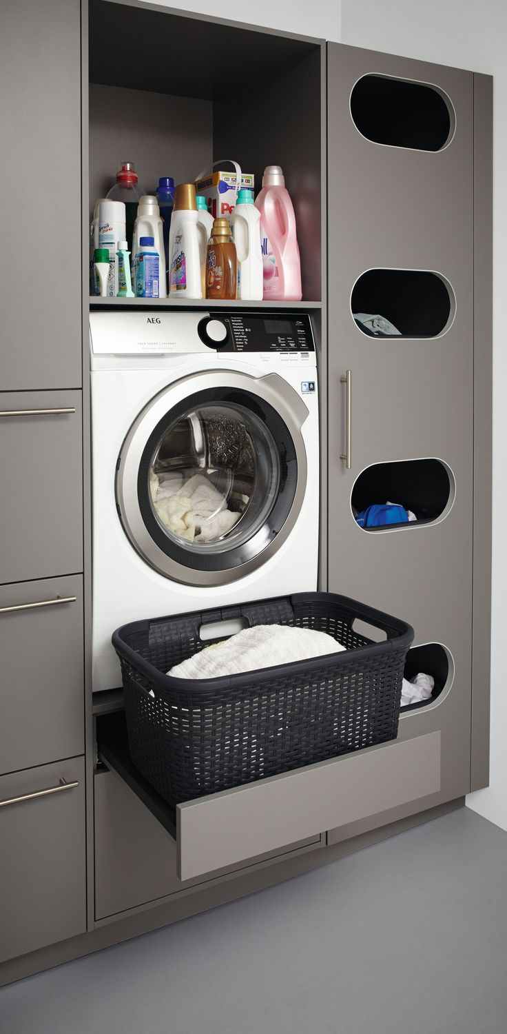 Laundry room, to wash and fold your clothes, basement diy organization decor – S…