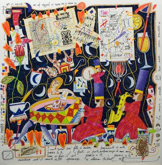 I miei giorni sono, Francesco Musante, Serigrafia polimaterica #gliartistidiGALP