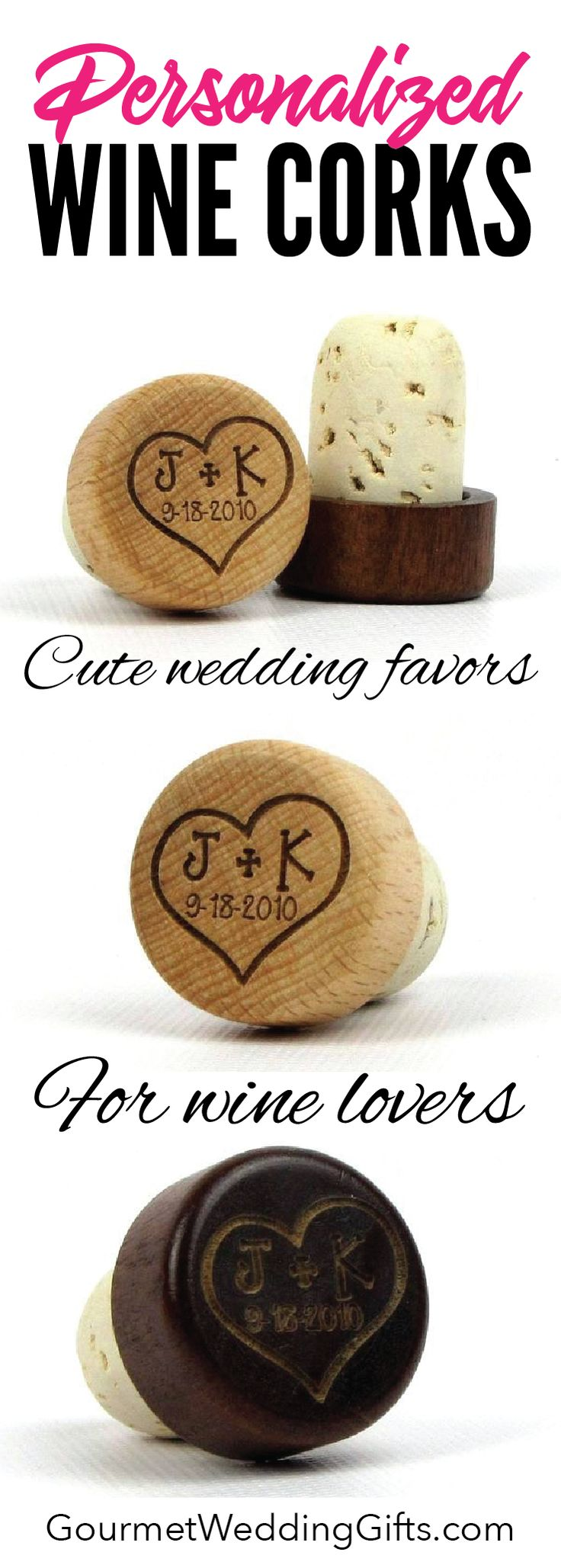 unique wedding favors |  wedding ideas | inexpensive cheap wedding gifts for guests | bridal shower gifts | custom gifts | wine gifts | cork stoppers