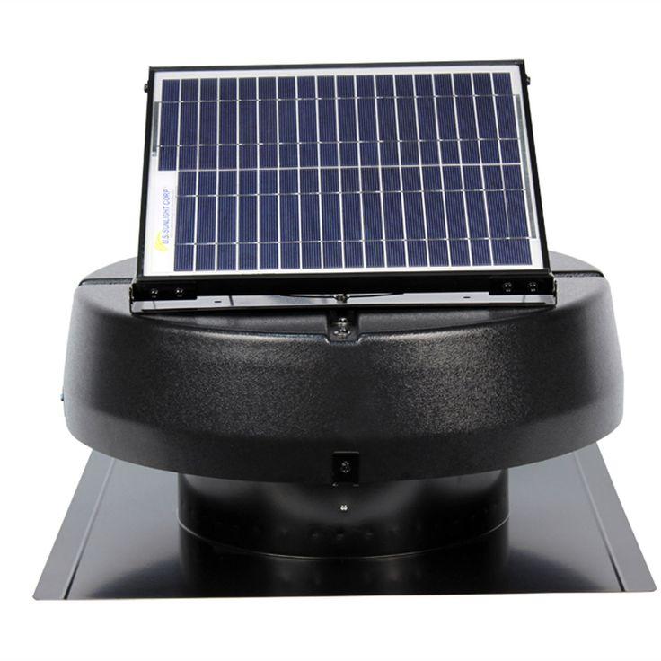 15w Solar Powered Attic Fan Ventilates Up To 1900 Sq Feet Solar Power Panels Solar Solar Energy Panels
