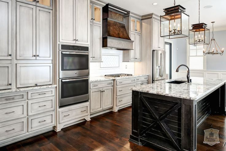 Best Fabulous Kitchen Features Weathered Gray Cabinets Paired 400 x 300
