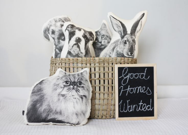 Handsome animal friends for your home!  These cushions need good mones ! :) www.andmenagerie.co.za https://www.etsy.com/shop/andMenagerie photo: Cecile Blake