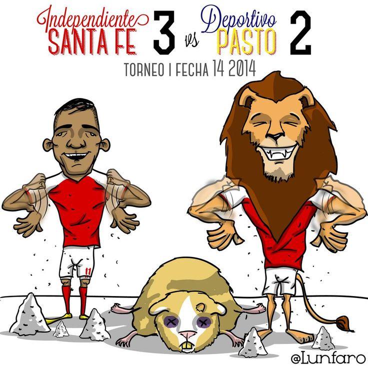 FPC Fecha 14!! @IndSantaFeCO 3 - @DeporPasto 2 ! #LeónToons  @Don Lunfaro