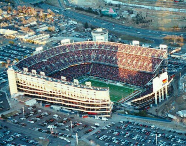 Old Mile High Stadium: Denver, Colorado.