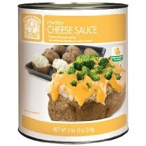Bakers & Chefs Cheddar Cheese - 6.62 lb. can