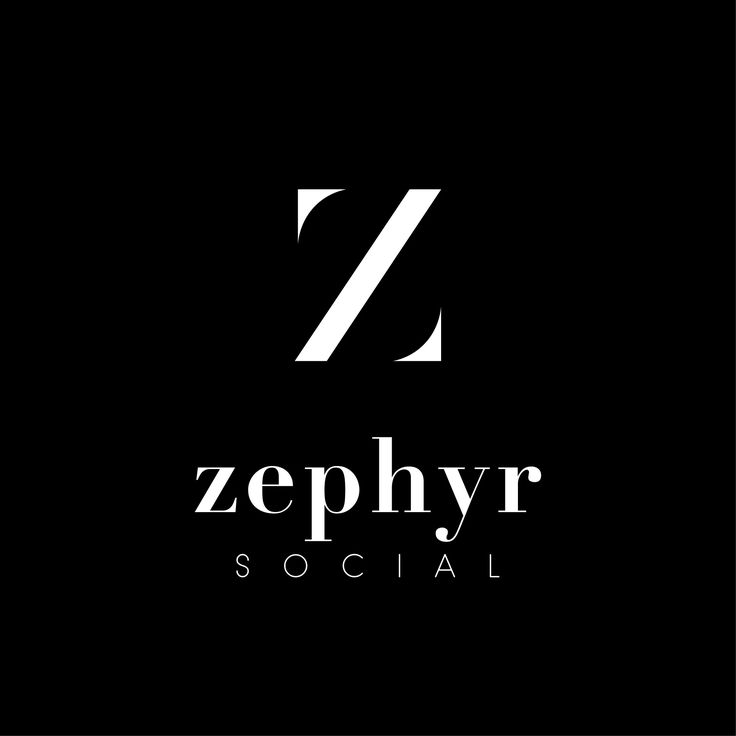 Logo Design + Branding for Zephyr Social by TMPL Design