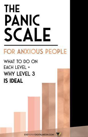 Ever wonder when to take action when you notice your anxiety creeping up? Find out the best times and techniques to deploy with the Panic Scale for anxious people - what to do on each level + why level 3 is ideal - Evergray Media