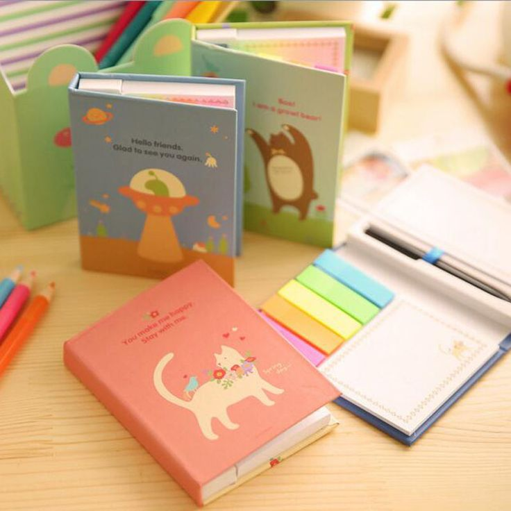 Cheap stationery book, Buy Quality stationery world office supplies directly from China stationery gift Suppliers: Kawaii Cartoon Stationery Stationary Creative Office Supplies Combination Portable Sticky Notes Memo Pads Post It with