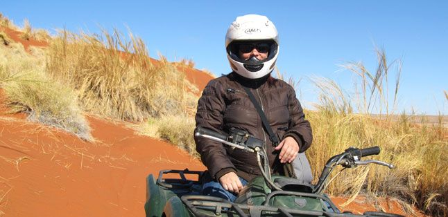 Our Recent Travels - Namibia: Anza quadbiking