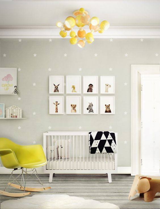 A different and colorful lamp to spice up the baby's room.