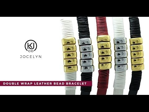 Jocelyn - Double Wrap Leather Bead Bracelet - Wrap your wrist in one of these lightweight, soft and supple, on trend, double wrap, genuine leather bracelets with stainless steel beads, and three snap button closures for adjustable sizing. These bracelets make sensational layering pieces or are fantastic as a standalone. Wear them to the office for a fashionable carefree look or casually for an effortlessly put-together style.